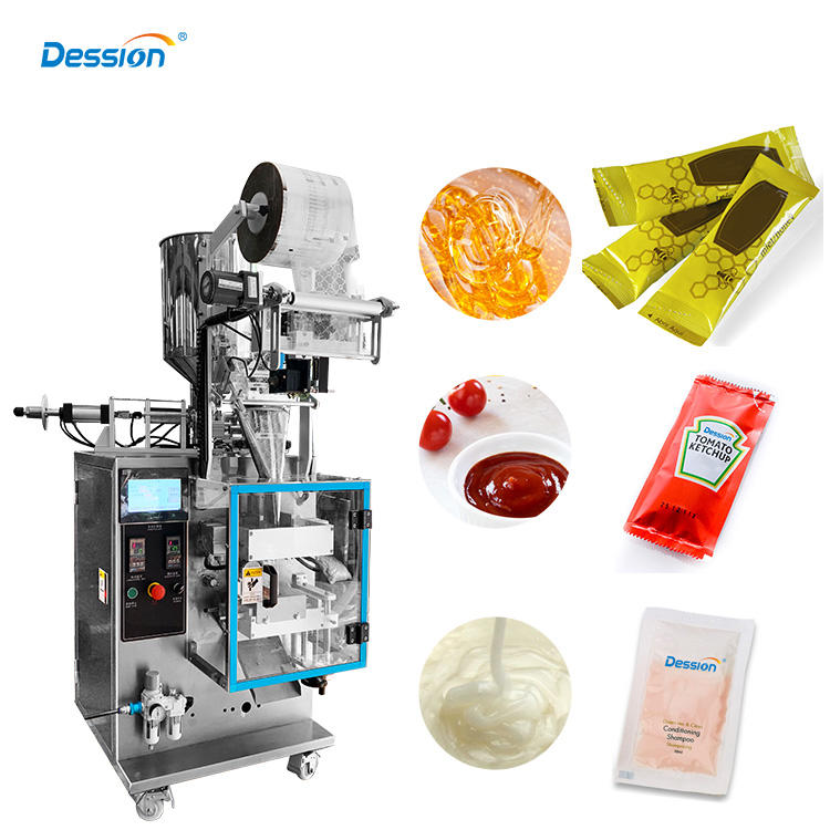 Automatic Filling Honey Stick Tomato Paste Sachet Packing Machine With Date printing