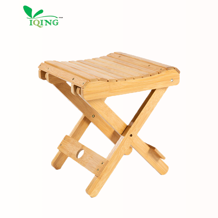 high quality Natural Folding Small Bamboo Stool for courtyard