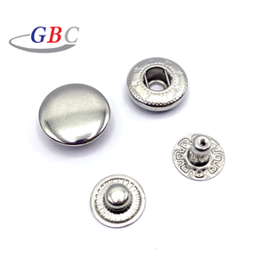 Decorative stainless steel metal press stud snap buttons
