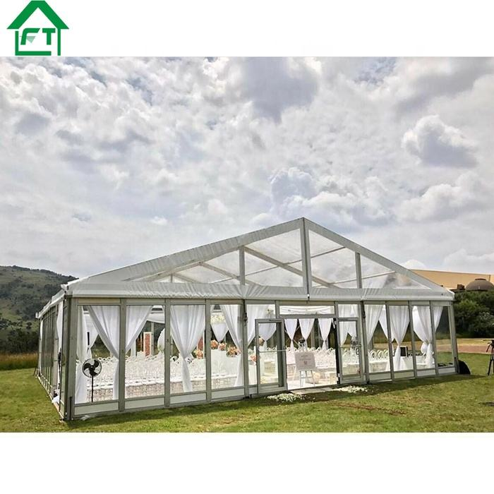 15x40 large capacity transparent elegant wedding tent for event ,luxury tents wedding clear
