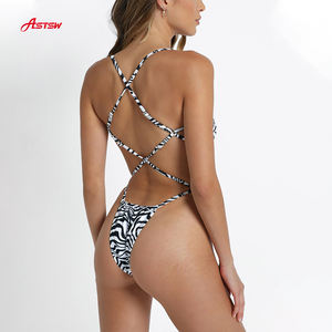Sublimation Printing Leopard Woman Swimwear Brach Wear Bikini Swimsuit