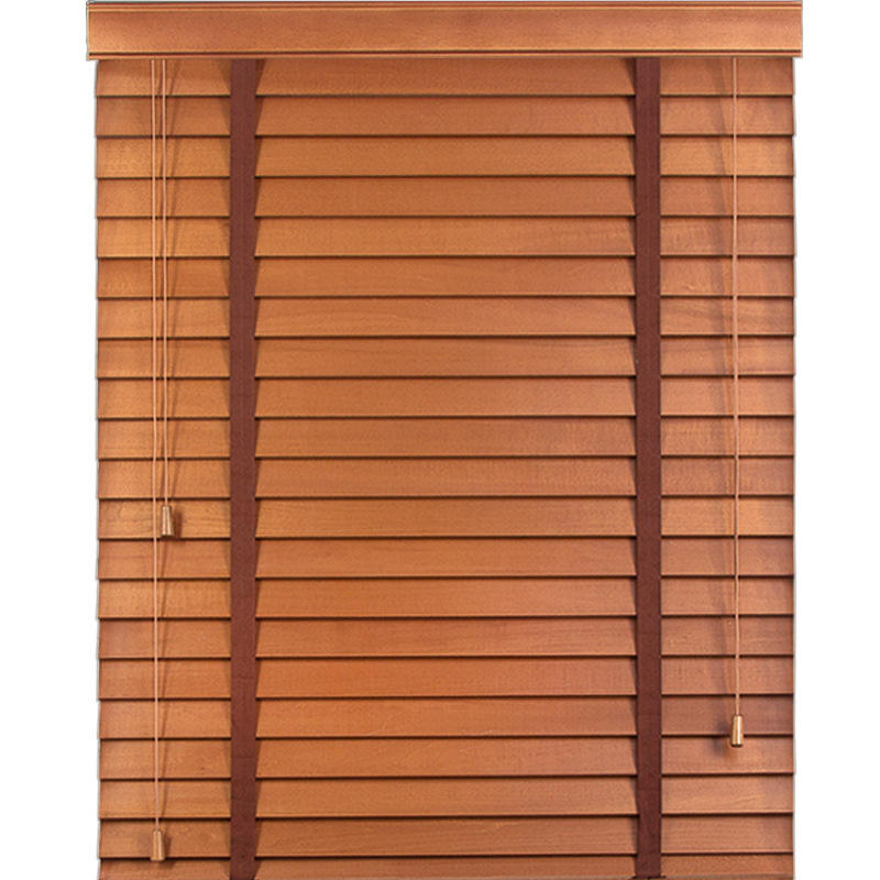 Solid Color Light Bamboo Electric Manual Wooden Blinds