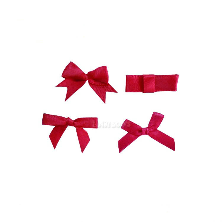 Wholesale mini satin underwear ribbon bow for garment