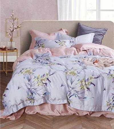 New luxury 100% organic 60s tencel lyocell designs flower bedding sets bedsheet sets lenzing tencel bedding Hot sale products