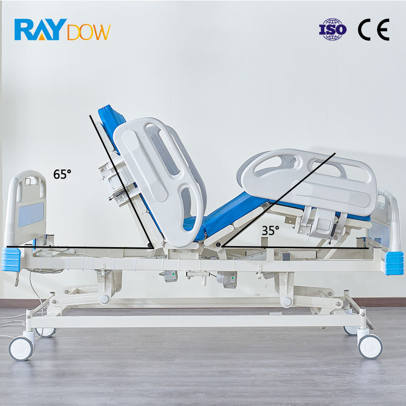 Alibaba gold supplier hospital beds price preferential CE certification 5-function electric hospital ICU bed medical bed