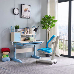 Greenfield Furniture Height Adjustable Kids Desk And Chair Multifunctional Ergonomic For Kids Study Desk
