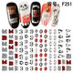 Decorations Nail Nail Decoration Newest Vampire Witch Pumpkin Designs Halloween Decorations 3d Nail Art Sticker