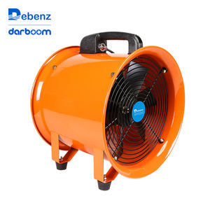 Low noise portable air ventilation exhaust industrial fan