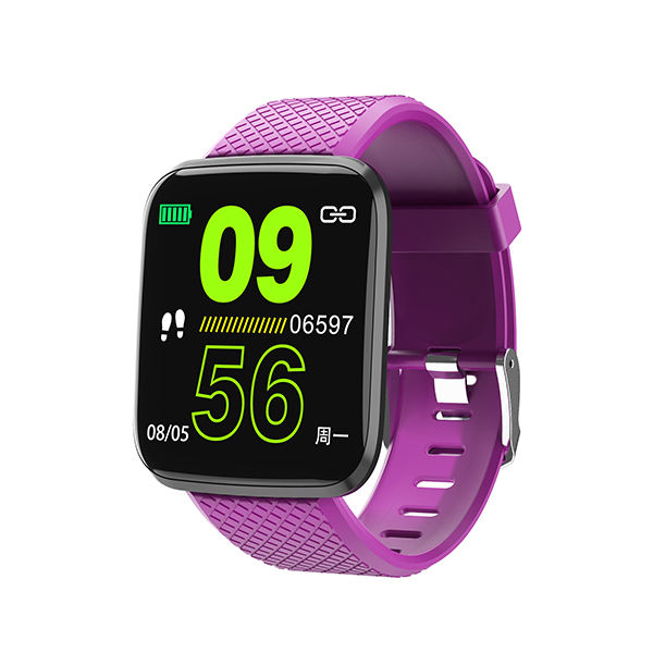 Cheap 116Plus Smart Watch for iPhone 1.3 Inch Color Screen Fitness Tracker Activity Tracker Compatible with iOS and Android