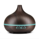 hot products 2019 400ml wood grain portable ultrasonic led aromatherapy essential oil air humidifier aroma diffuser