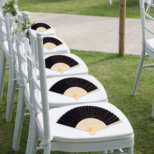 Church Gift Party Favors DIY Decoration Silk Bamboo Folding Souvenir Wedding Fan Personalized