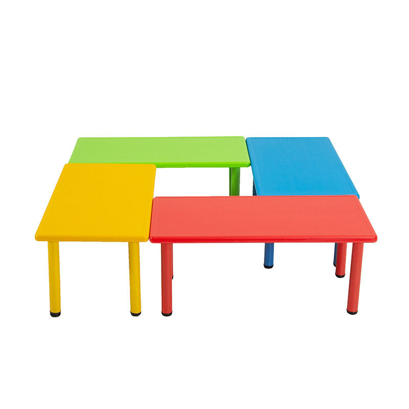 Preschool furniture kindergarten plastic children rectangular dining table