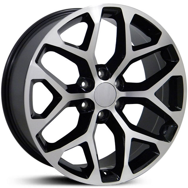 Manufacture of High quality Black machine 20 22 inch replica wheels for America car PCD 6x139.7