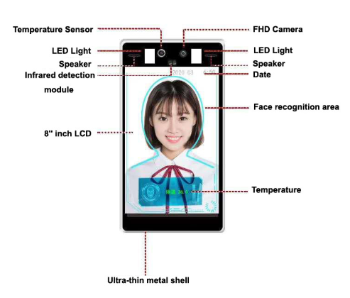 Thermal Imaging Body Measurement 1080P Face Recognition Camera Non Contact Body Temperature Thermal Came