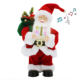 12Inch Christmas Santa Claus with Music Animated Standing Led Lighting Singing and Dancing Red Figurie