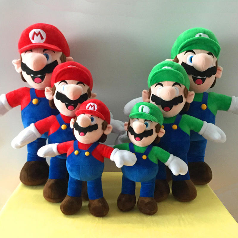 Multi-size peluches cartoon character stuffed mario bros plush toy