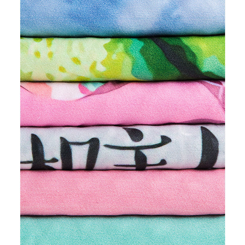 Printed [ Towel ] High Quality Microfiber Customized Printed Non Slip Yoga Towel
