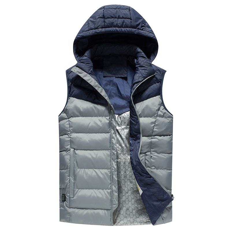 Wholesale Men padded Vest New Winter Warm Sleeveless Jacket Casual Outdoor Light weight Waistcoat Men's Casual vest