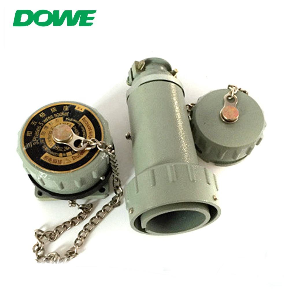 Grigio fisso 25 amp 3 phase 5 wire non-scintille spina e presa