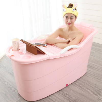 Hot selling folding movable soaking spa plastic bath tub