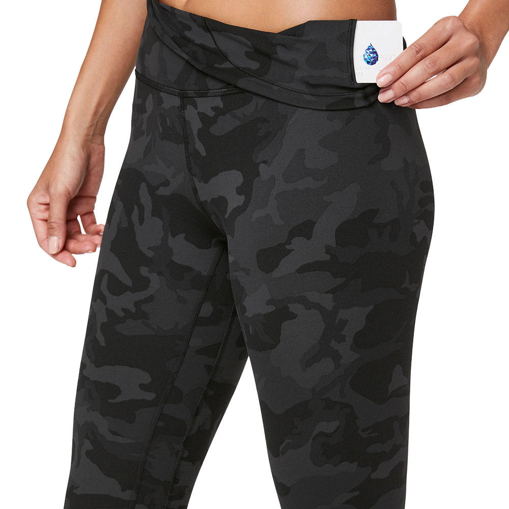 Women's Full Length Nylon Spandex Pro Cool Athletic Gym Workout Print Yoga Pants