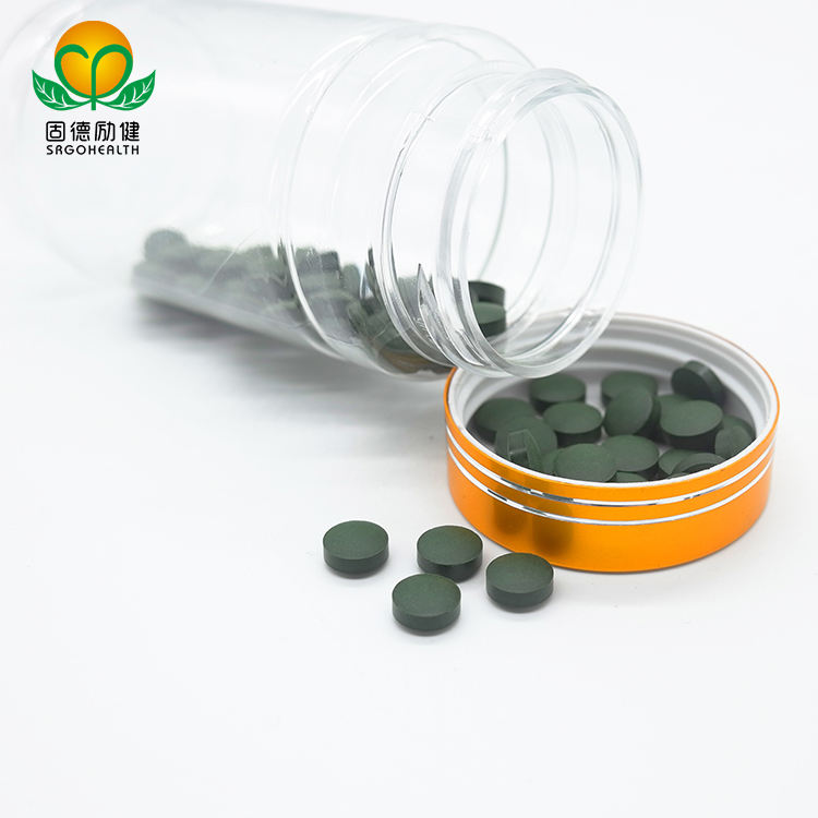 GMP Factory Supply Organic Spirulina and Chlorella Mixed Tablet
