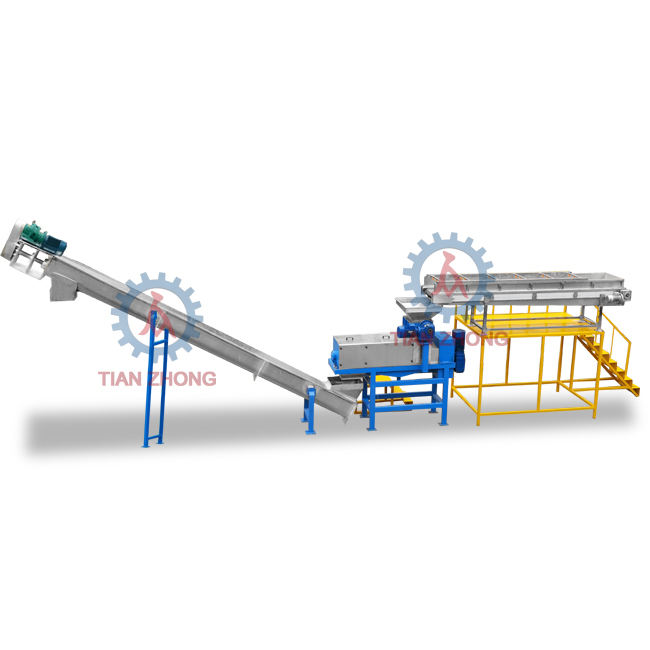 City garbage waste compress sorting dewaterer recycling machine line