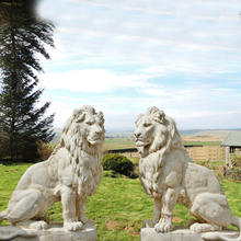 White Outdoor Marble Animal Lion for sale