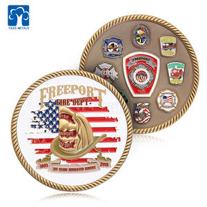YAZS Custom Zinc Alloy Royal Missionary Cheap Antique Brass Challenge Souvenir Coins