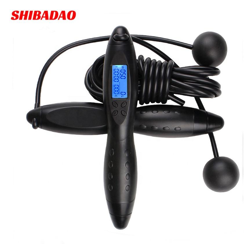 New design ABS skid resistance handle length adjustable Electronic digital counting smart skipping jump rope for home