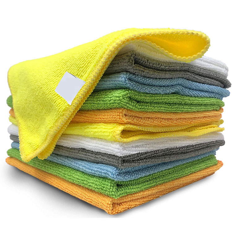 Custom Logo Recycled Household 24 Pcs One Pack Car Wash Microfiber Cleaning towels For Clean Glass