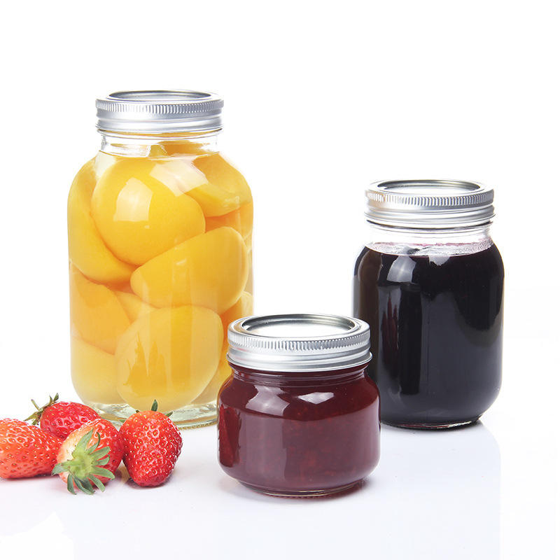 Wholesale Food Safe Glass Jar With Metal Clip Lid And Rubber Seal/airtight Storage Jar