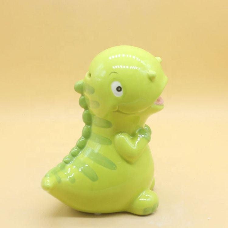 Linda Em Forma de Dinossauro Verde Tamanho Grande Cofrinho de Cerâmica Dinheiro Do Banco Da Moeda Banco Melhor