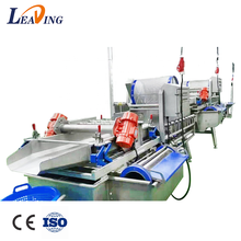 industrial fresh fruit leaf root vegetable cleaning machine Automatic Fruit Vegetable Washing Line