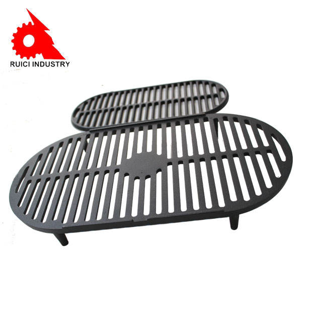 Physical non-stick oil cast iron charcoal bbq grills
