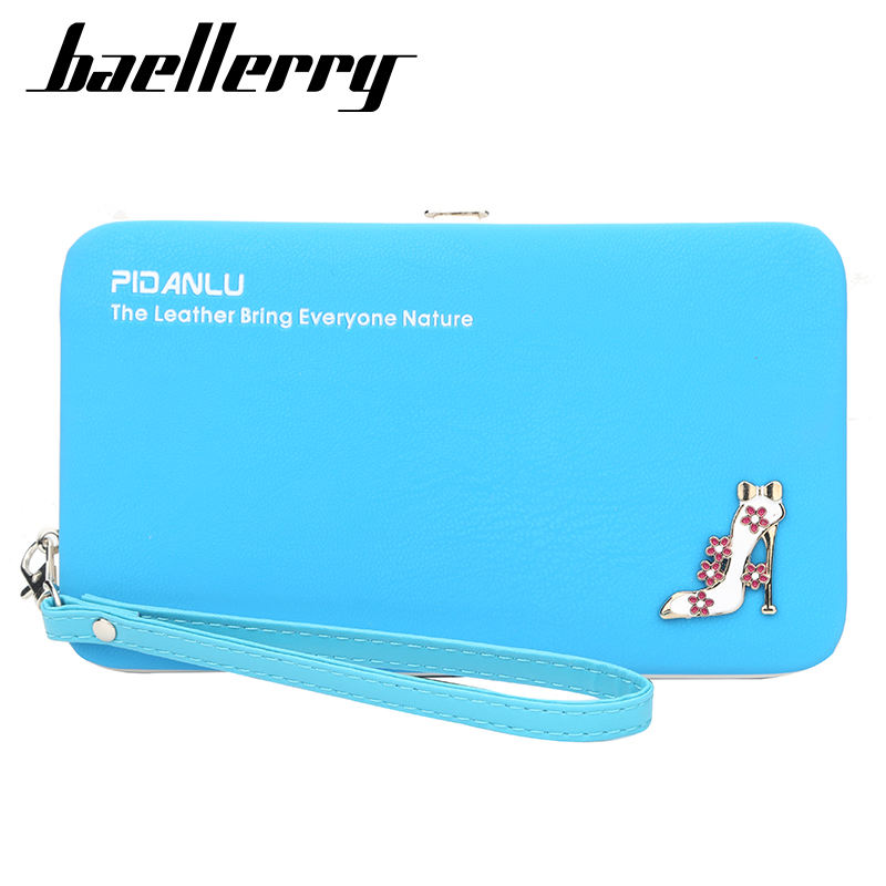 Baellerry Brand Women Fashion Wallets mit hohen absätzen schuhe Design Long Zipper Leather Clutch Bag Cellphone Card Holder Money Purse