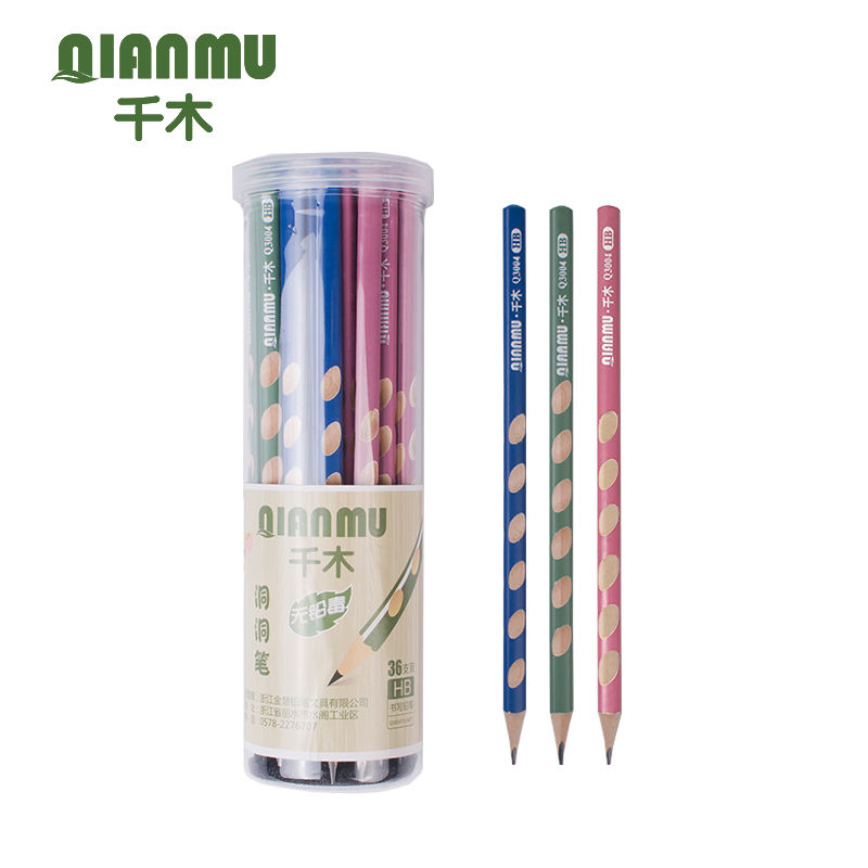 HB triangle matte pencil with top hole