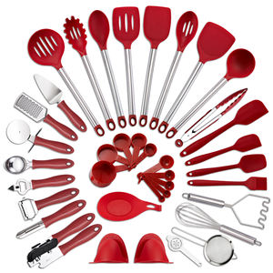 Amazon Hot Selling 38 Pieces Kitchen Utensil Set Cooking Baking Nylon and Stainless Steel Garget Non-stick Spatula Set