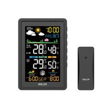 BALDR B0360 Color Digital Wireless Weather Station DCF Indoor Outdoor Thermo- Hygrometer Sunset Weather Forecast with barometer