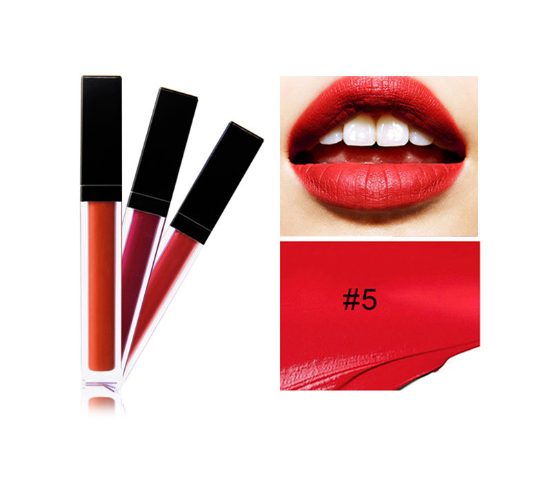 Langlebiges Lippen Make-up Schwarz Wasserdicht Vegan Matte Liquid Lipstick Private Label