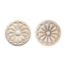 Rubber decorative furniture onlays wood carving appliques