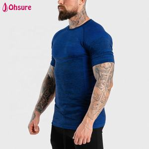 Polyester mesh breathable custom private label muscle gym tee sports t shirt compression