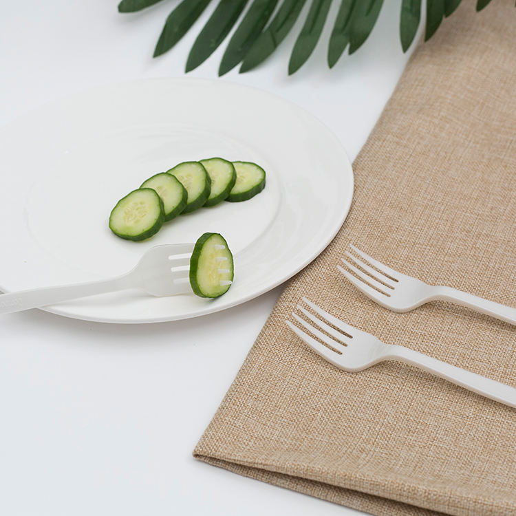 Custom Disposable Eco Material Natural fork knife and spoon set