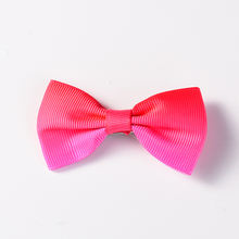 1.5 MM Beautiful Grosgrain Ribbon Printing Ribbons Flower  and Silk Bow knot for Girls Bow with Clip