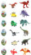 Toy For Kids With Small Capsule Dinosaur Building Block Dinosaur Model Figure Set Plastic Toy For Kids