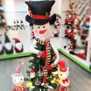 Christmas Tree Hats Christmas Tree Decoration Snowman Topper Elf Santa Hat