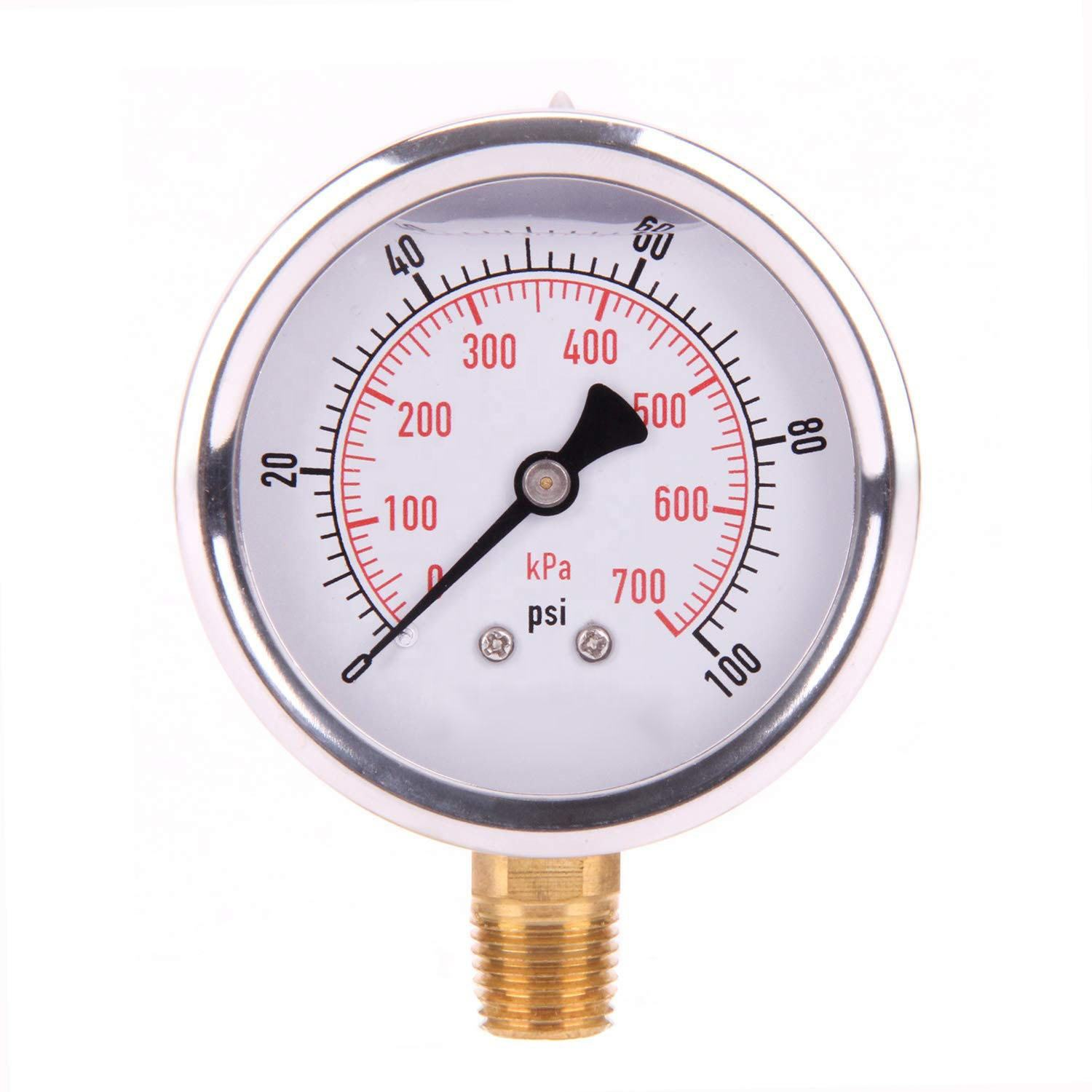 "63mm dry 1/4"" NPT Lower Mount Pressure Gauge"
