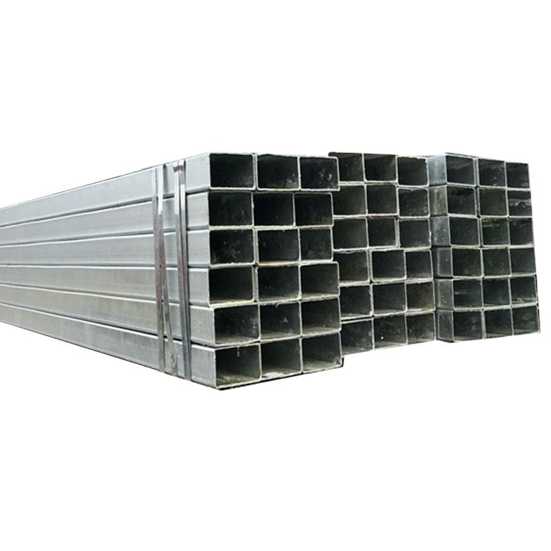 galvanized steel pipe standard sizes welded hot dip steel square pipe