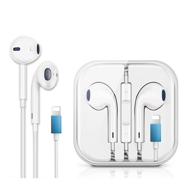 Mobile phone earphone earpod hand free earbuds with bluetooth microphone for iphone 7 8 x earphone for apple