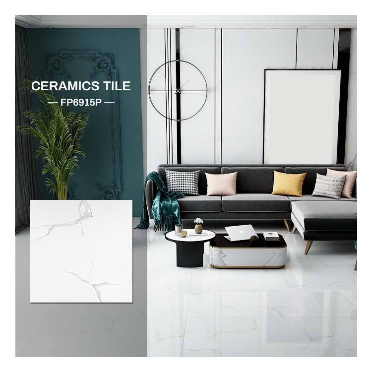 Bolande Decorative Italian travertine ivory white marble floor tile weight 600x600 ceramic fully polished glazed tiles